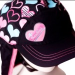 Hearts Helmet Hat